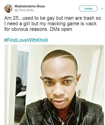 Former gay man goes in search for girlfriend, calling men trash