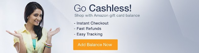 Amazon.in Coupons for Gift Cards Top-up  Rs. 75 off on Rs. 500, Rs. 150 off on Rs.1000, Rs.300 off on Rs.2000, Rs.500 off on Rs.5000
