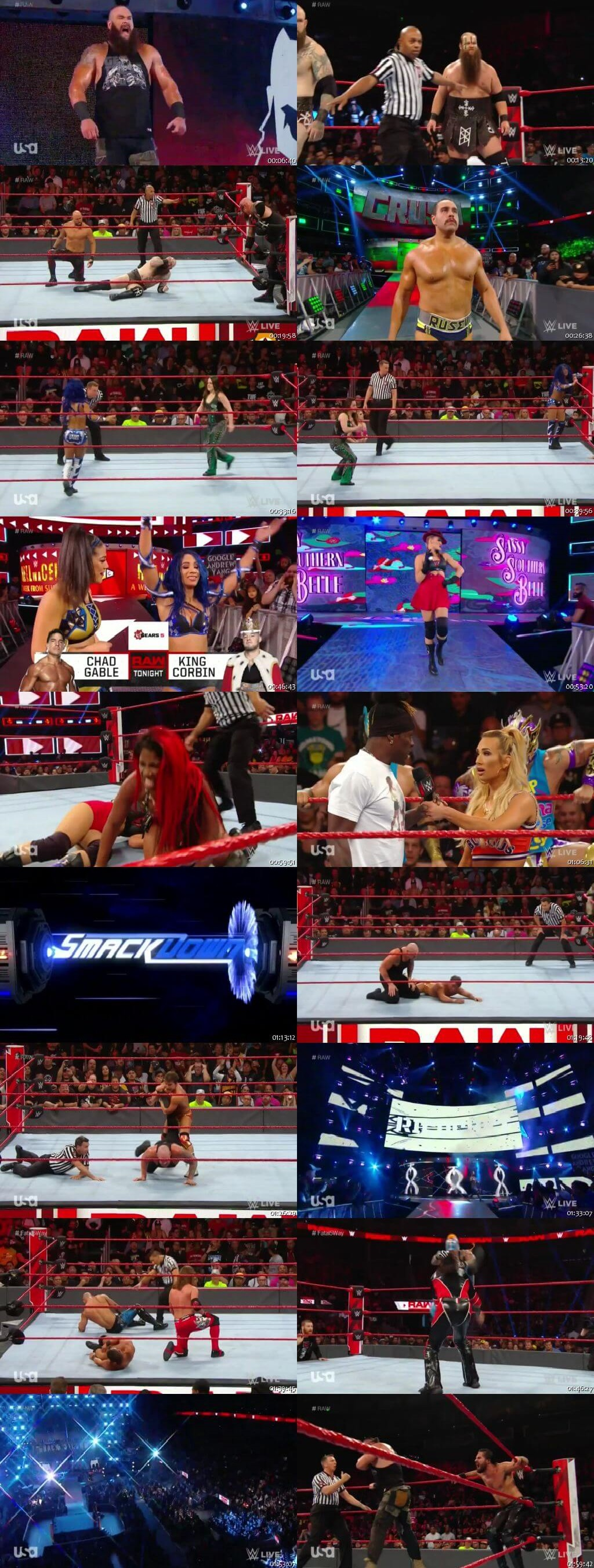 Screen Shot Of Wrestling TV Show WWE Monday Night Raw 23rd September Watch Online Free Download