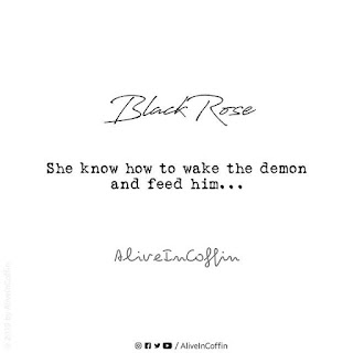 Poem upon her how she feed her demon.