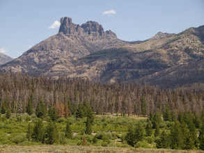 Photo: Norton Point Fire, Shoshone NF, WY, 2011; Norton Point, Double Cabin