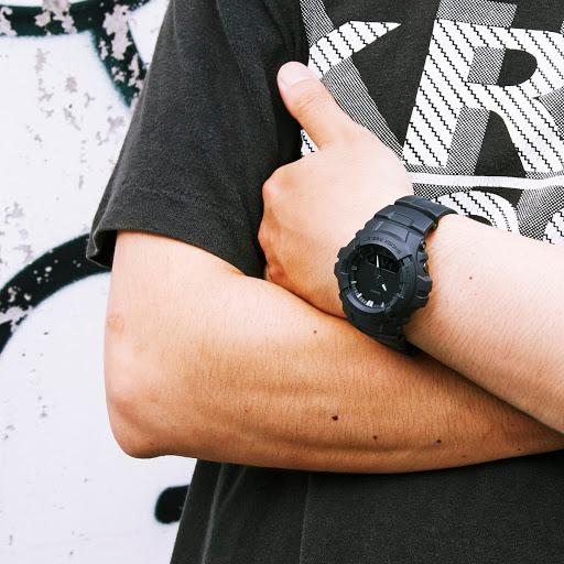 Jam Tangan Pria - Tali/Gelang Karet Casio G Shock : G-100BB
