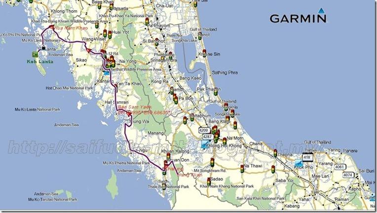 Koh Lanta map