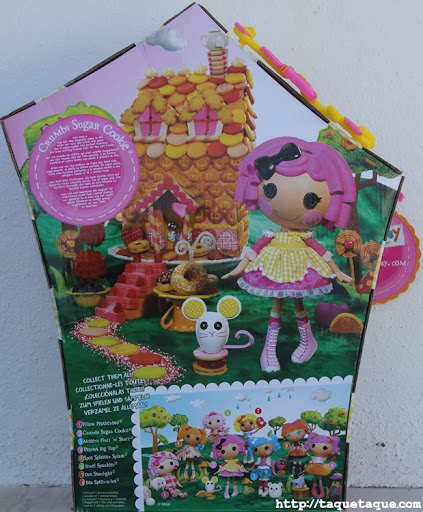mi Lalaloopsy Crumbs Sugar Cookie; fotos de la caja