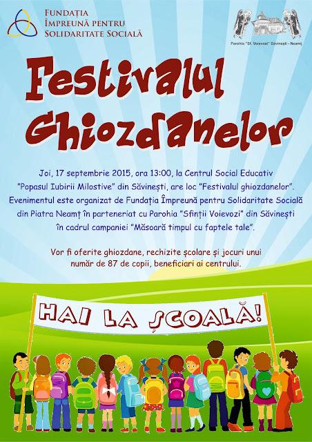 "17 Septembrie - ""Festivalul ghiozdanelor"""