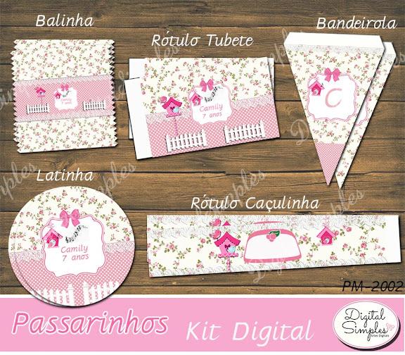Kit Digital Festa Passarinhos  .....artesdigitalsimples@gmail.com