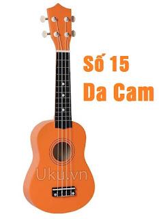đàn ukulele soprano trơn màu da cam