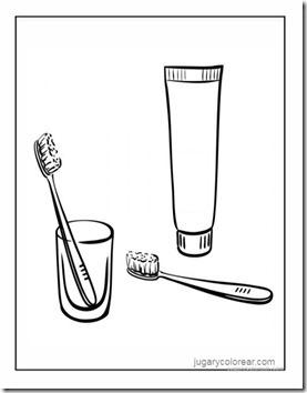 cepillarse los dientes colorear 2