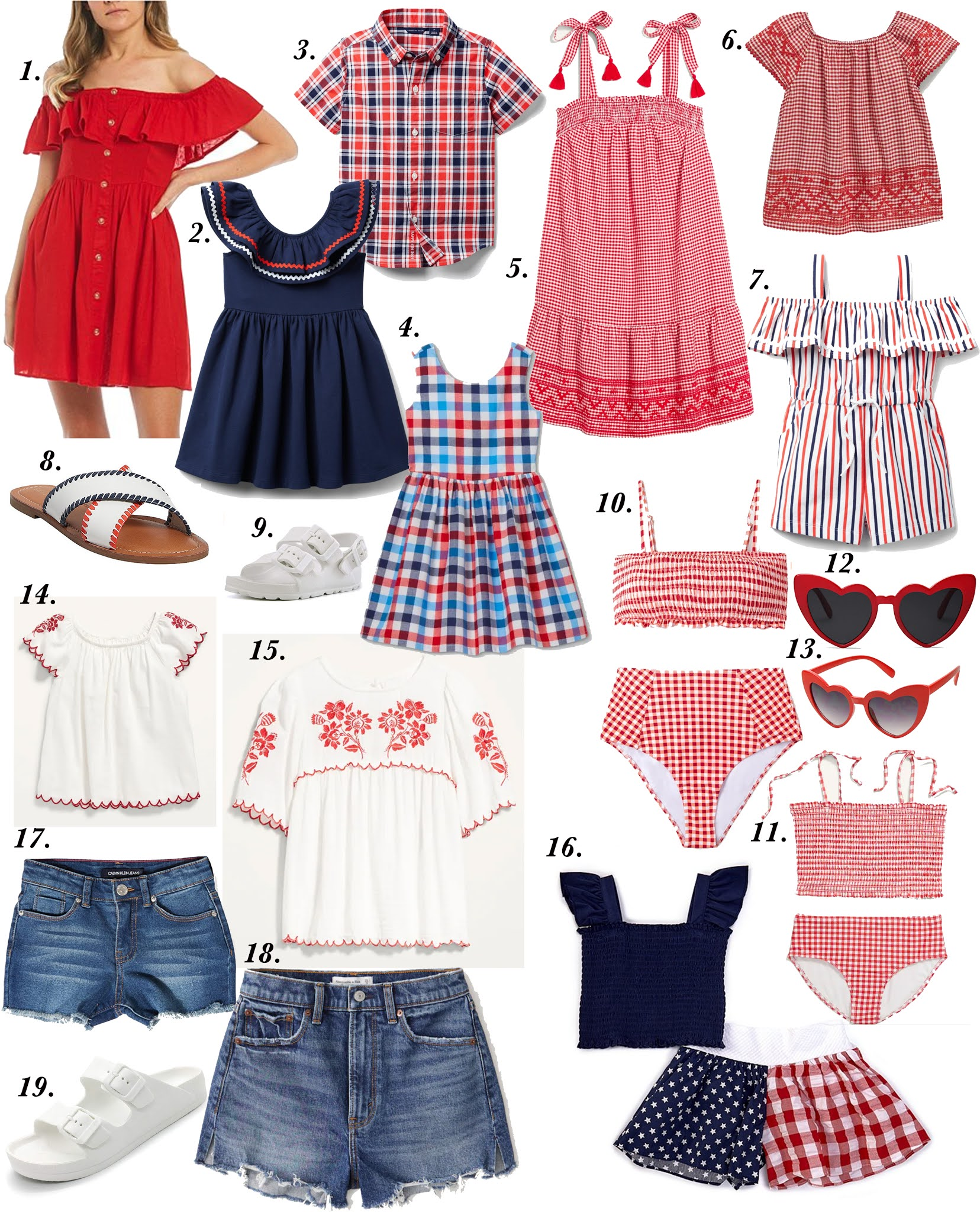 Patriotic Finds for the Family - Something Delightful Blog #memorialdayootd #patrioticoutfit #July4thootd #redwhiteandblue
