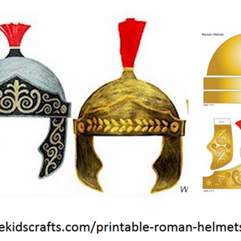 Casco de Romano disfraz para imprimir