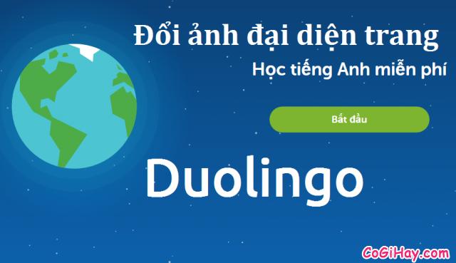 Đổi ảnh đại diện trang học tiếng anh Duolingo