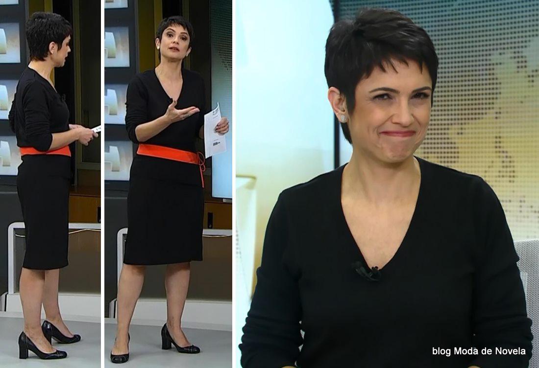 moda do programa Jornal Hoje - look da Sandra Annenberg dia 30 de maio