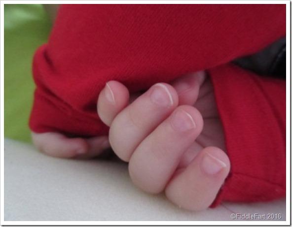 Bertie's fingers