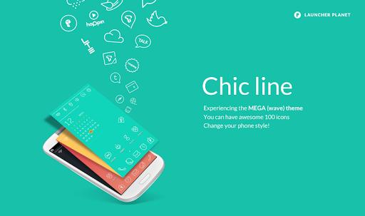 Chic Line Mega Pastel Theme
