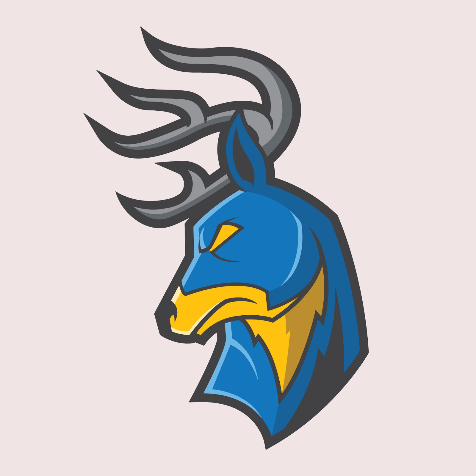Antler Mascot Logo Free Download Vector CDR, AI, EPS and PNG Formats