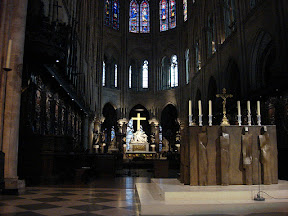 Altar and Sanctuary of Notre Dame de Paris
