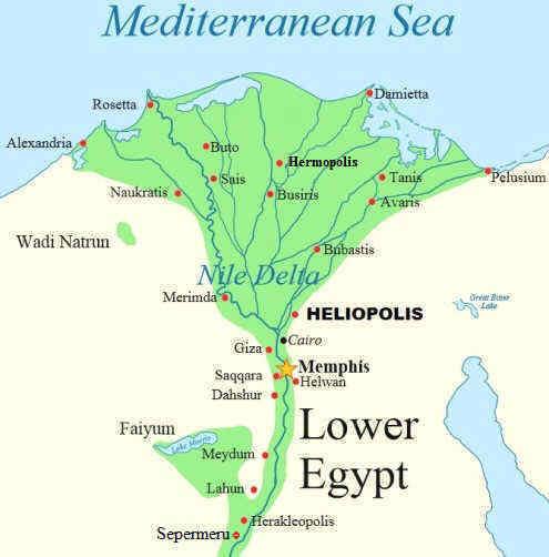 Δέλτα του Ποταμού Νείλου,Ηρακλούπολη,Ερμούπολη,Ηλιούπολη Αιγύπτου,Κάϊρο,Αλεξάνδρια,Greek cities in Egypt.