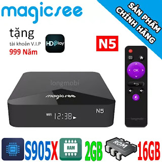 magicsee n5 tv box gia re