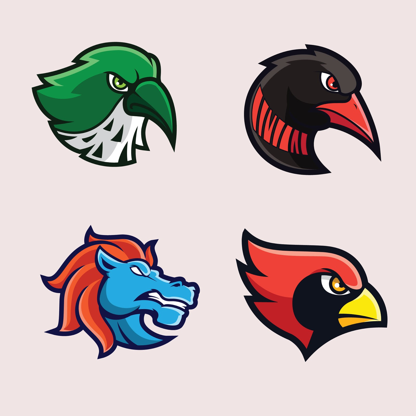 Birds Animal Mascot Logos Free Download Vector CDR, AI, EPS and PNG Formats