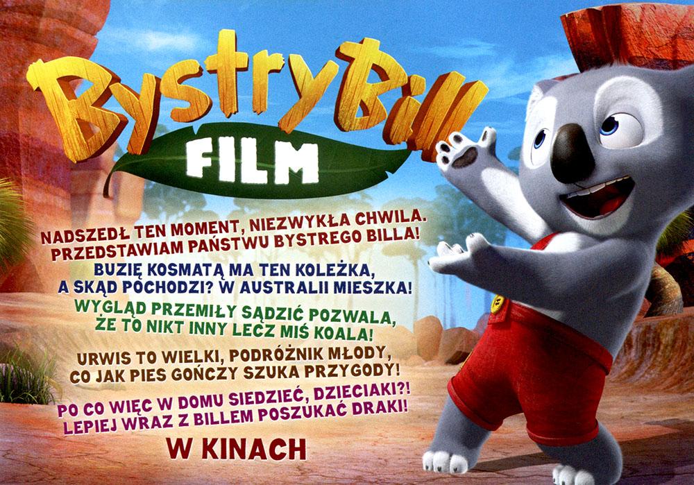 Ulotka filmu 'Bystry Bill (tył)'