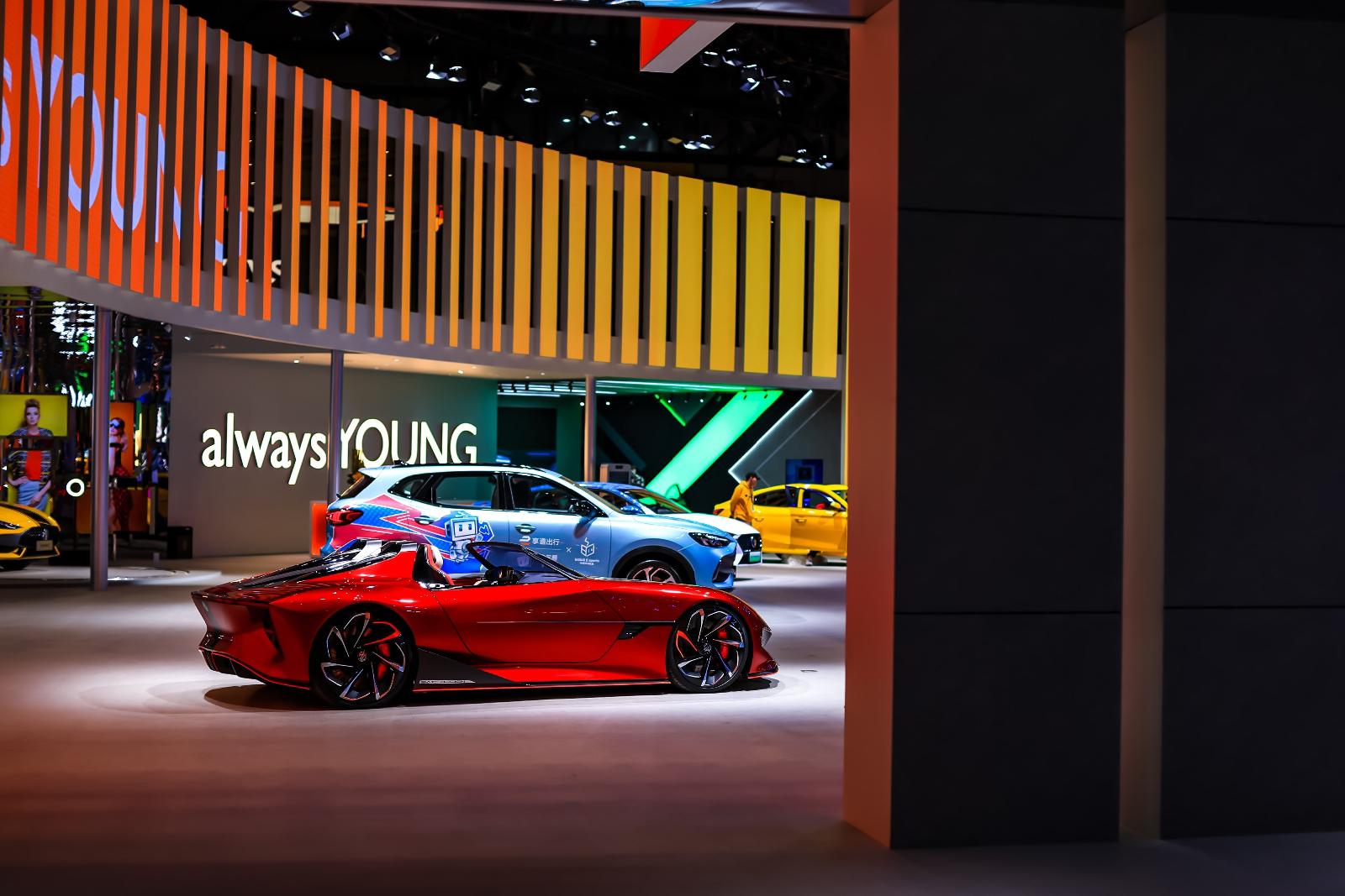 "MG เปิดตัวรถต้นแบบแห่งโลกอนาคต""MG Cyberster"" ในงาน Shanghai Auto Show 2021"