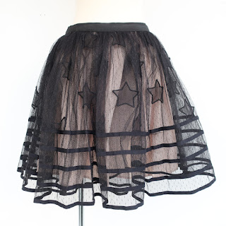 Red Valentino Star Tulle Skirt