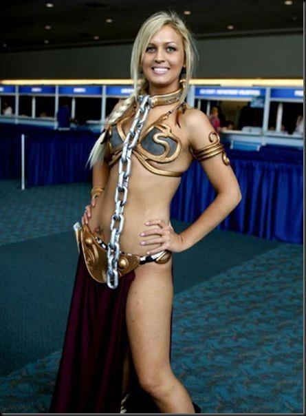 Princess Leia - Golden Bikini Cosplay_865825-0025