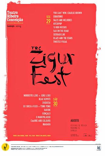 Programa completo do TRC ZigurFest – Lamego – 29 e 30 de Agosto de 2014