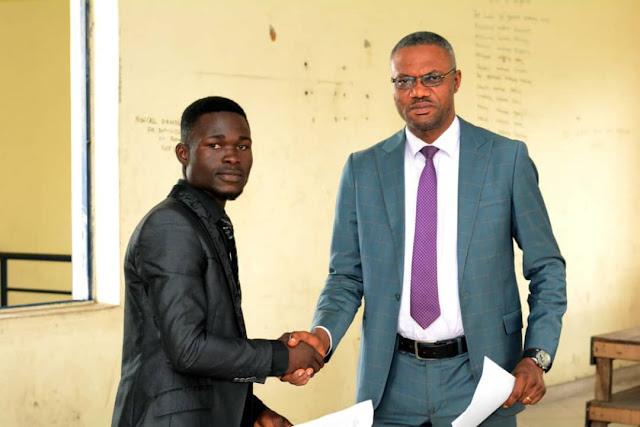 Congratulating Comr. Collins, Comr. Emmanuel Fmr SUG President spoke some secrets