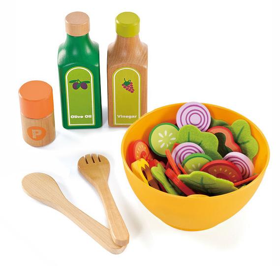 Đồ chơi rau củ quả làm Salad trộn Hape E3116A