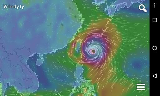 未来风 Windyty 最新风势预测 温度预测 雨量预测