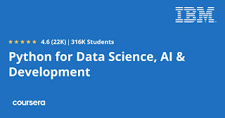 free Coursera course for Python for Data Science, AI & Development