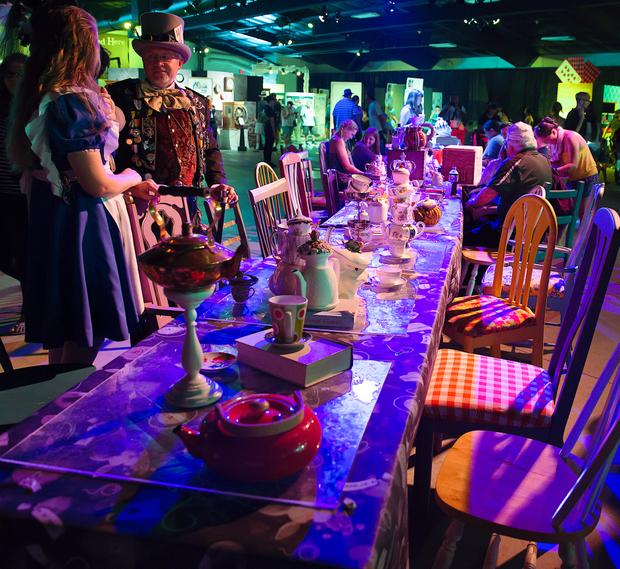 photo of the tea table