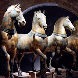 80. The Horses of Saint Mark (Triumphal Quadriga). IV Century BC. The Treasury of the Patriarchal Cathedral Basilica of Saint Mark. Venice. 2013