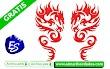 Bordado Dragón Rojo 🚀 Descargar Gratis