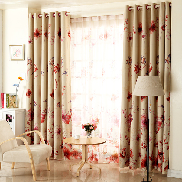 Red Curtains beige red curtains : Homes Hub: Red And Beige Curtains - 6 Kitchen Curtain Largest