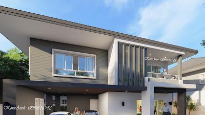 แบบบ้าน2ชั้น  เจ้าของโครงการ คุณสุเนตร์ มุทิตานนท์ สถานที่ก่อสร้าง ต.เมืองคง อ.ราษีไศล จ.ศรีสะเกษ