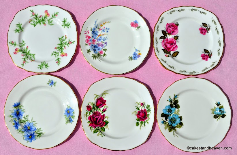 Mismatched Tea Set Tea Plates with Colouful Florals