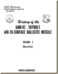 History of the GAM-87 Skybolt Missile