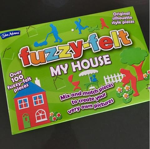 Hannah and the mini beasts: Fuzzy-Felt My House