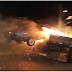 Caminhão transportando veículo em chamas causa susto em Itaberaba