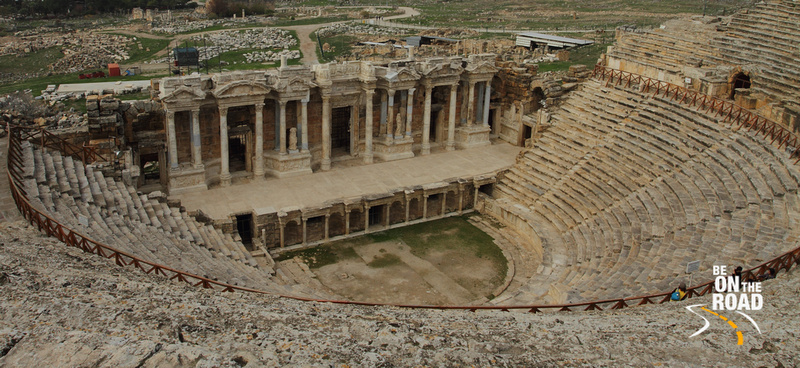 The mighty amphitheater of Hierapolis, Turkey