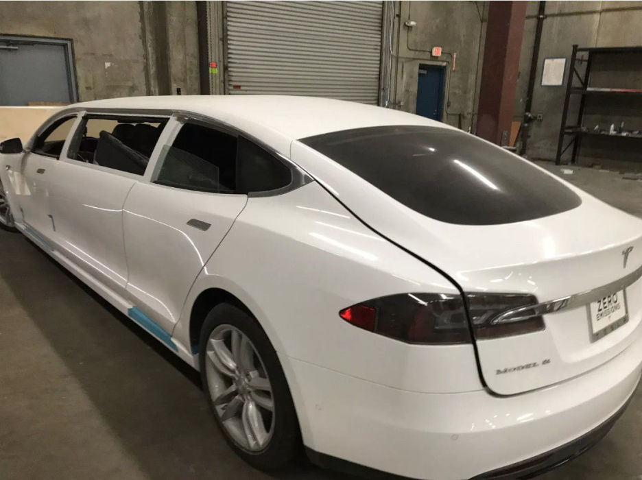 First Tesla Limousine conversion goes live on eBay
