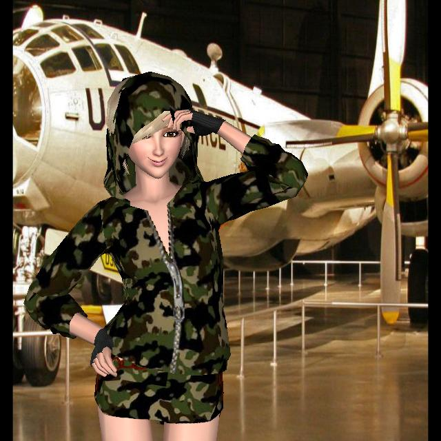 Style Me Girl Level 39 - Army Chick - D'Are