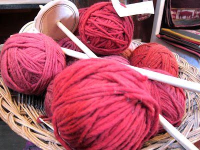 Yarn at the Awamaki store in Ollantaytambo Peru