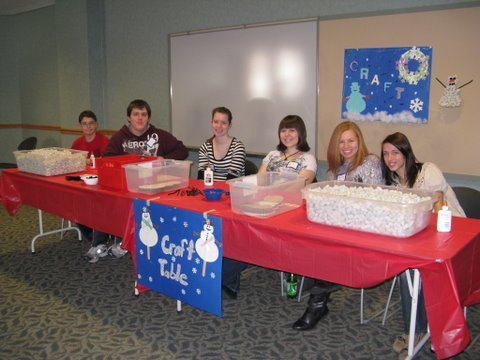 Craft Table at Winter Carnival