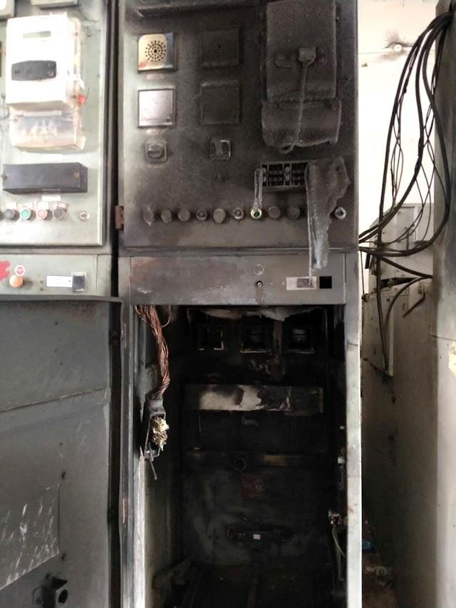 विद्युत उपकेन्द्र पर इनकमिंग पैनल में ब्लास्ट होने से विद्युत आपूर्ति बाधित