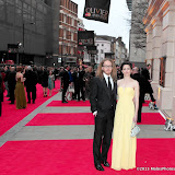 WWW.ENTSIMAGES.COM -   Tim Minchin and Sarah Minchin   at      The Olivier Awards at Royal Opera House, Covent Garden, London, April 28th 2013                                               Photo Mobis Photos/OIC 0203 174 1069
