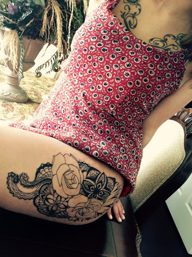 fa937b78a Black rose tattoo design on back thigh ideas for women. thigh tattoos