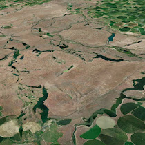 Drumheller Channels - shaped by the Ice Age Floods (GoogleEarth views)